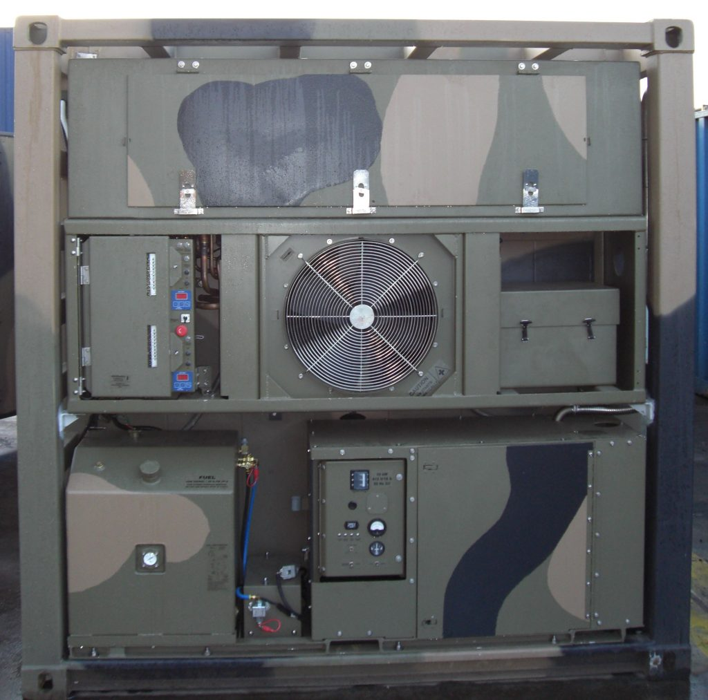 Temp Cooling Units : Foot military refrigerated container klinge corporation
