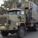 Military Refrigerated Container on Truck