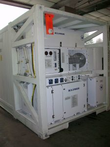 Satellite Communication System on a Dual Refrigerated & Dual Powered Container