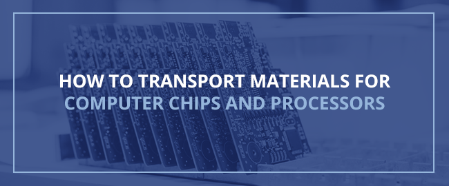 How to Transport Materials for Computer Chips