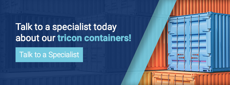 Talk to a specialist today about our tricon containers